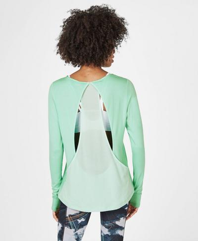 Enchant Long Sleeve Top, Mint | Sweaty Betty