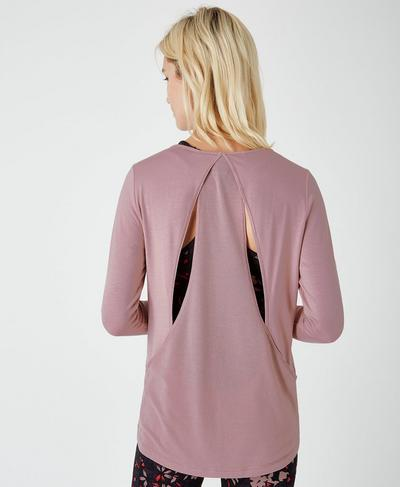 Enchant Long Sleeve Top, Velvet Rose | Sweaty Betty