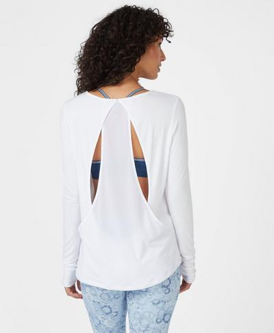Enchant Long Sleeve Top, White | Sweaty Betty