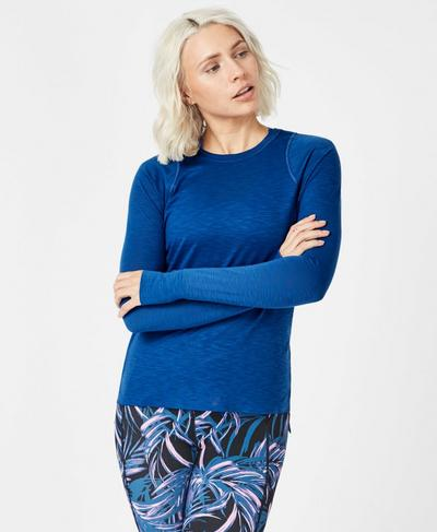 Breeze Long Sleeve Running Top, Blue Quartz | Sweaty Betty