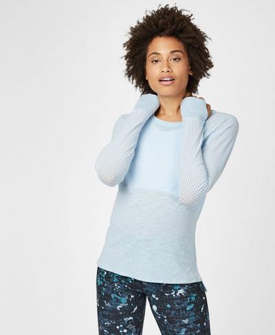 Breeze Merino Long Sleeve Running Top, Infinity Blue | Sweaty Betty
