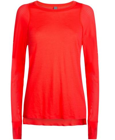 Breeze Merino Long Sleeve Run Top, Tulip Red | Sweaty Betty