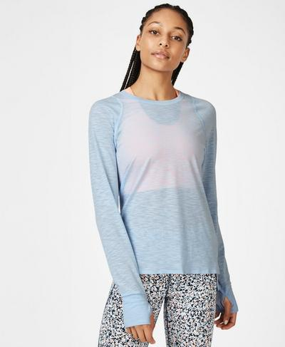 Breeze Light Long Sleeve Running Top, Infinity Blue | Sweaty Betty