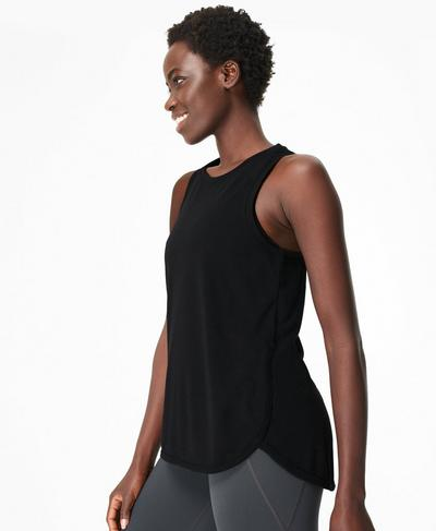 Pacesetter Running Tank, Black | Sweaty Betty