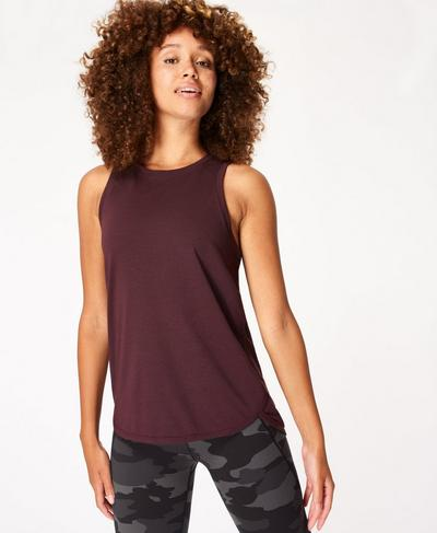 Pacesetter Running Tank, Black Cherry | Sweaty Betty