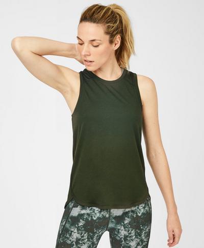 Pacesetter Running Tank, Dark Forest Green | Sweaty Betty