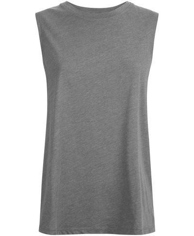 Flow Workout Tank, Charcoal Marl | Sweaty Betty