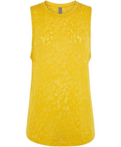 Flow Workout Tank, Turmeric Yellow   Sweaty Betty