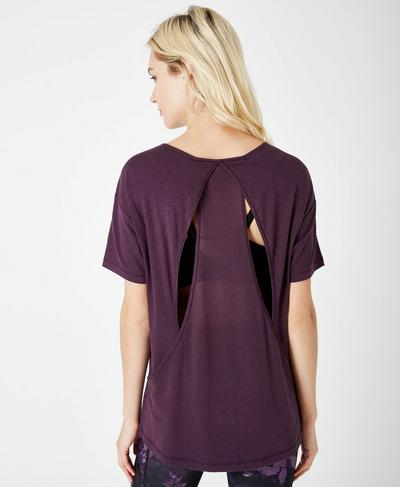 Enchant Short Sleeve Tee, Aubergine | Sweaty Betty