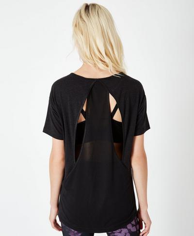 Enchant Short Sleeve Workout T-Shirt, Black | Sweaty Betty
