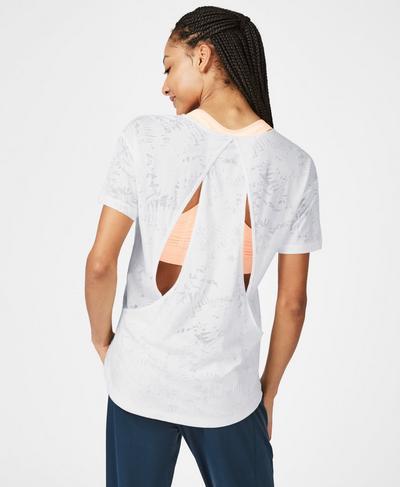 Enchant Short Sleeve T-Shirt, Off White | Sweaty Betty