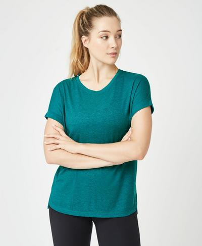 Ab Crunch Workout T-Shirt, Deep Lake | Sweaty Betty