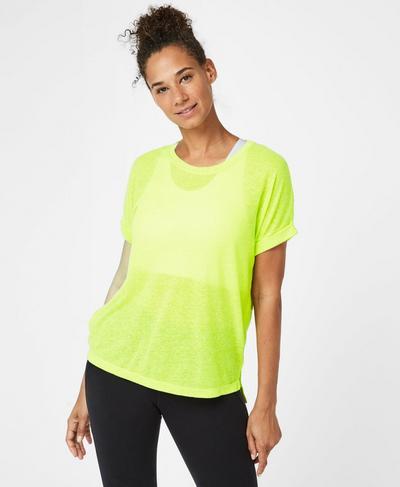 Ab Crunch Workout T-Shirt, Lime Punch | Sweaty Betty