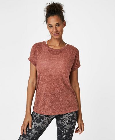 Ab Crunch Workout T-Shirt, RUST | Sweaty Betty