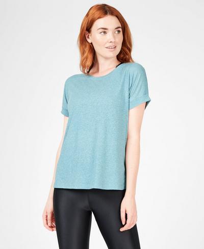 Ab Crunch Workout T-Shirt, Still Water | Sweaty Betty