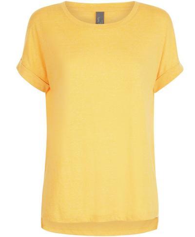 Ab Crunch Workout T-Shirt, Turmeric Yellow | Sweaty Betty