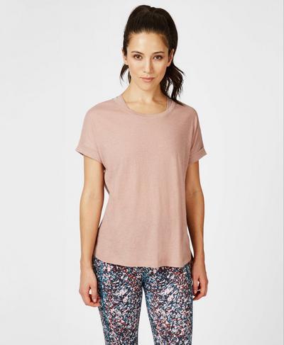 Ab Crunch Workout T-Shirt, Velvet Rose Pink   Sweaty Betty
