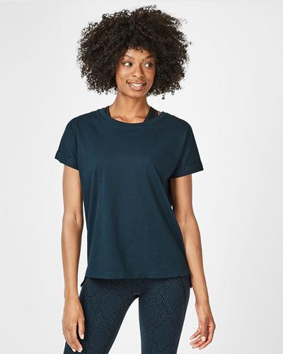 Ab Crunch Workout T-Shirt, Beetle Blue | Sweaty Betty
