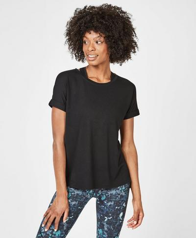 Boyfriend Workout T-Shirt, Black | Sweaty Betty
