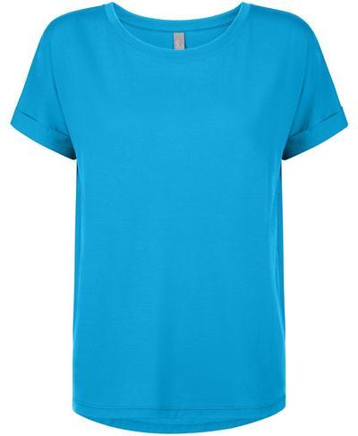 Boyfriend Workout T-Shirt, Mosaic Blue | Sweaty Betty