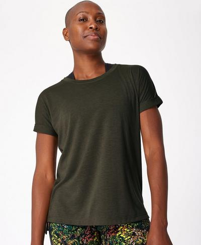Boyfriend Workout Tee, Olive | Sweaty Betty
