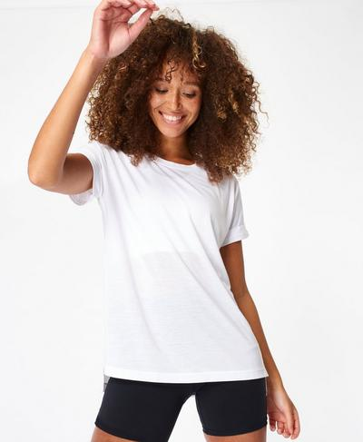 Boyfriend Workout Tee, White | Sweaty Betty