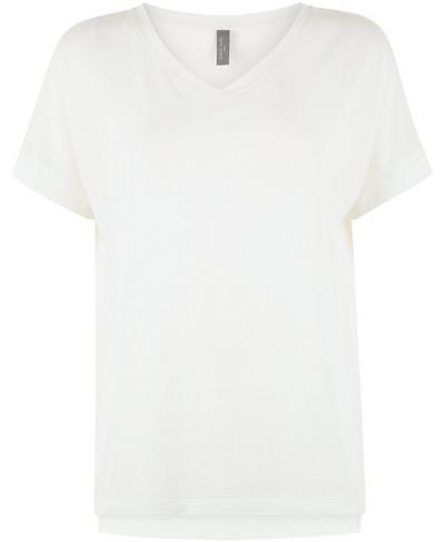 Boyfriend V-Neck Gym T-Shirt, Lily White | Sweaty Betty