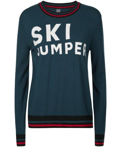 Ski Jump Knitted Sweater, Beetle Blue | Sweaty Betty