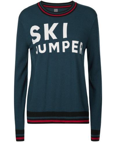 Ski Jump Knitted Sweater, Beetle Blue | Sweaty Betty
