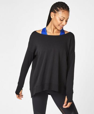 Simhasana Sweatshirt, Black | Sweaty Betty
