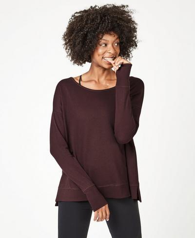 Simhasana Sweatshirt, Black Cherry | Sweaty Betty