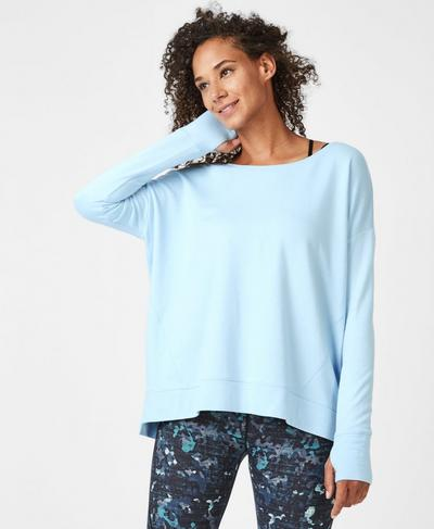 Simhasana Sweatshirt, Infinity Blue | Sweaty Betty