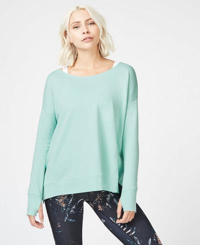 Simhasana Sweatshirt, Mint | Sweaty Betty