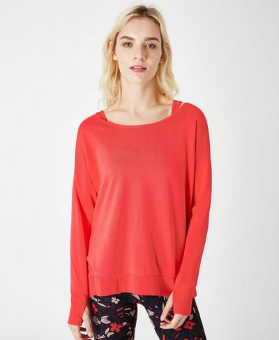 Simhasana Sweatshirt, Tulip Red | Sweaty Betty