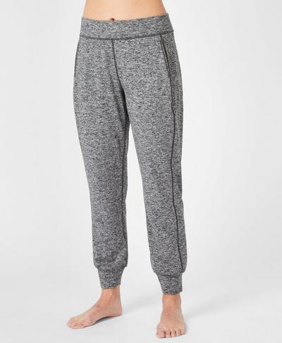 Gary Yoga Trousers, Black Marl | Sweaty Betty
