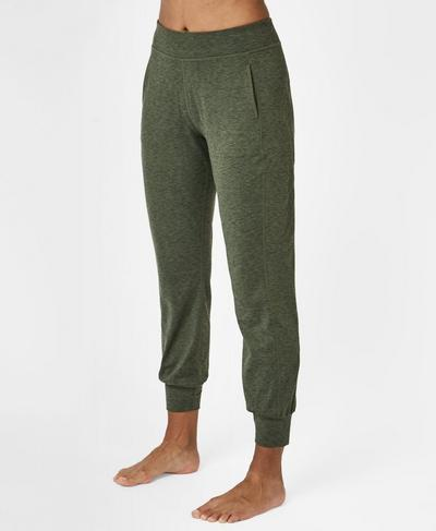 Garudasana Yoga Pants, Olive Marl | Sweaty Betty