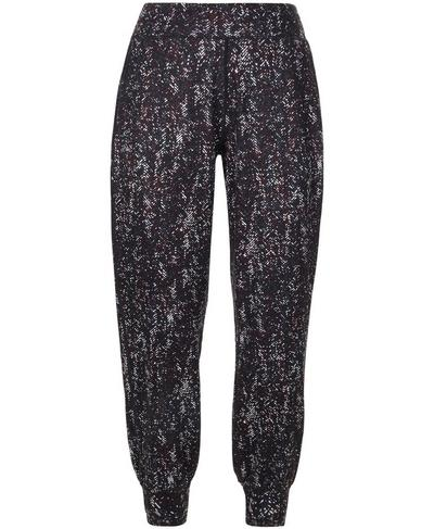Gary Yoga Pants, Purple Herringbone Print | Sweaty Betty