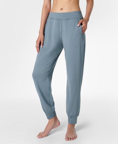 Gary Yoga Pants, Steel Blue | Sweaty Betty