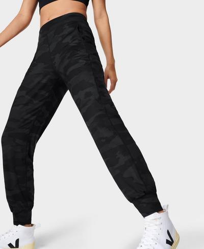 Gary Yoga Pants, Ultra Black Camo Print | Sweaty Betty