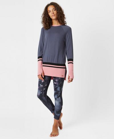 Camden Merino Knitted Top, Grey   Sweaty Betty