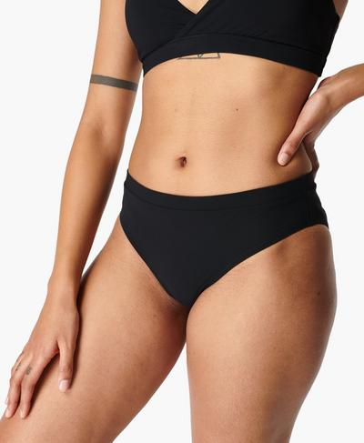 Coral Swim Bikini Bottoms, Black | Sweaty Betty