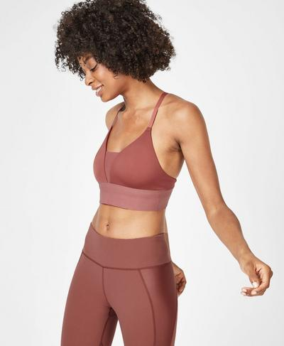 Chaturanga Yoga Bra, RUST | Sweaty Betty