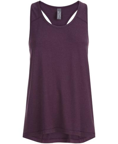 Compound Jersey Tank, Aubergine Marl | Sweaty Betty