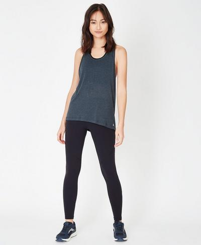 Compound Jersey Tank, Beetle Blue Marl | Sweaty Betty