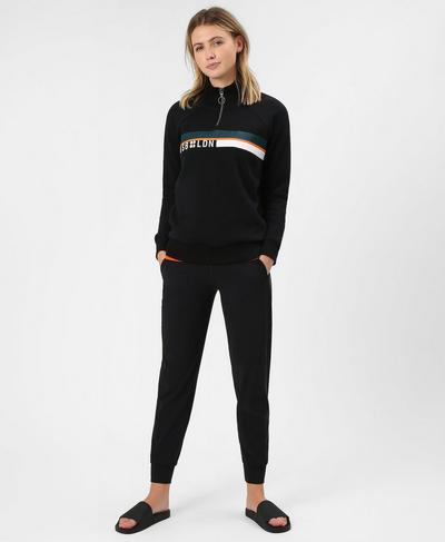 One Way Half Zip Sweat, Black | Sweaty Betty