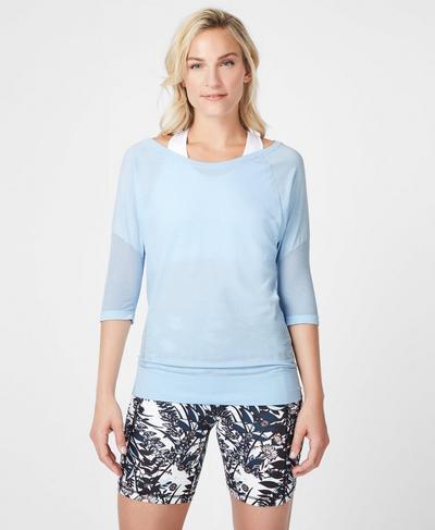 Dharana Short Sleeve Yoga T-Shirt, Infinity Blue | Sweaty Betty