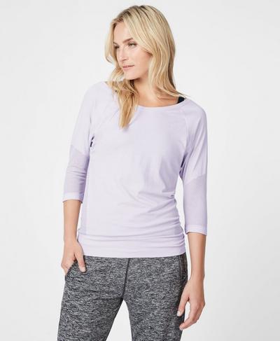 Dharana Short Sleeve Yoga T-Shirt, LILAC | Sweaty Betty