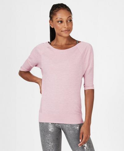 Dharana Short Sleeve Yoga T-Shirt, Velvet Rose | Sweaty Betty