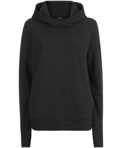 Pleat Tech Run Hoodie, Black | Sweaty Betty
