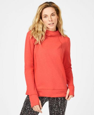 Jog On Running Hoodie, Tulip Red | Sweaty Betty